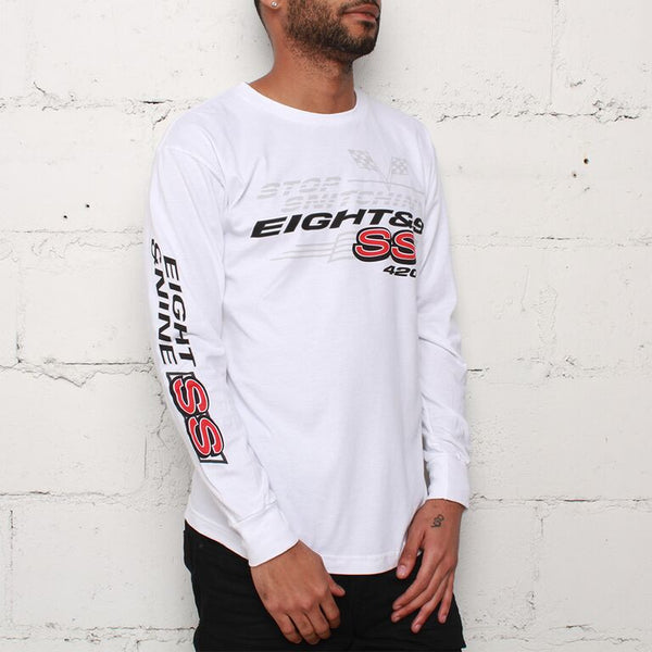 Stop Snitchin L/S T Shirt White