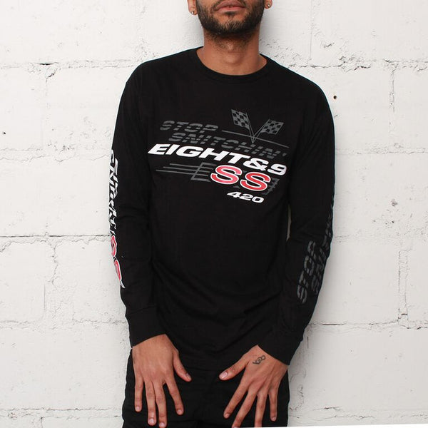 Stop Snitchin L/S T Shirt Black