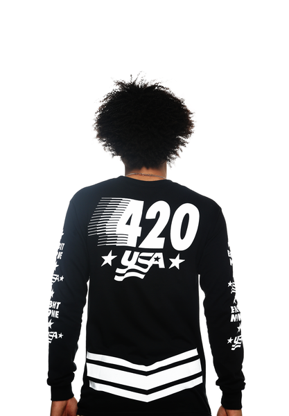 Team USA Jersey Tee Black L/S - 4