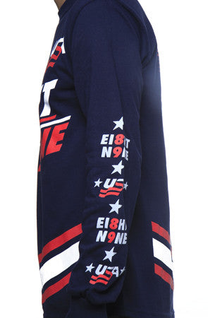 Team USA Jersey Tee Navy L/S - 5