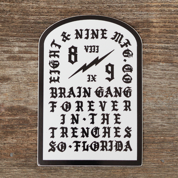 Tombstone White Sticker