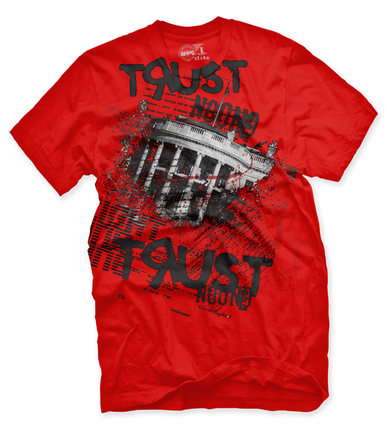 Trust No One Red T Shirt - 2