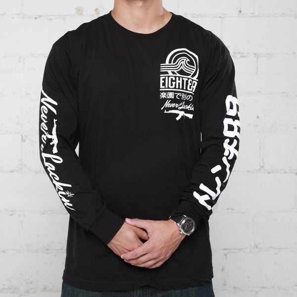 tsunami long sleeve black t shirt (4)