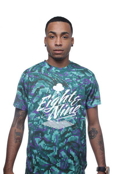 Grape Digi Bud Sublimated Shirt - 1
