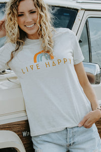 Live Happy Tee - Live By Nature