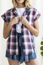 Load image into Gallery viewer, plaid button up collar shirt