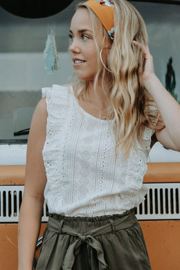 Fay Eyelet Top - Live By Nature