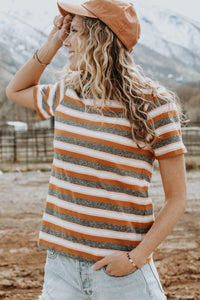 Charlie Stripe Tee - Live By Nature