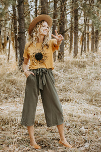 Sage Gaucho Pant - Live By Nature Boutique