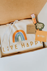 Live Happy Sweatshirt Gift Box - Live By Nature Boutique