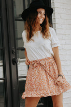 Load image into Gallery viewer, Orange Flower Skirt - Live By Nature Boutique