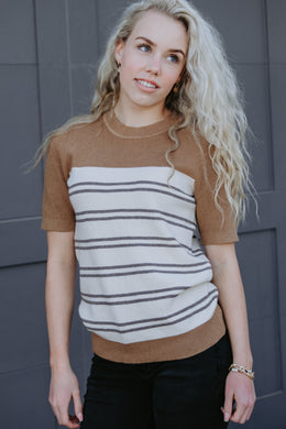 Courtney Stripe Top - Live By Nature Boutique