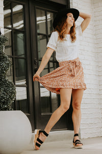 Orange Flower Skirt - Live By Nature Boutique