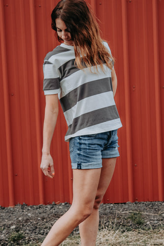 Hayley Striped Tee - Live By Nature Boutique