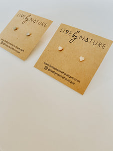 Heart Earrings - Live By Nature Boutique