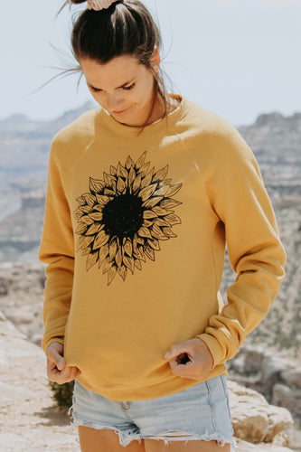 Sunflower Sweatshirt - Live By Nature Boutique