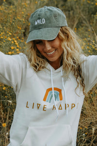 Live Happy Hoodie - Live By Nature Boutique