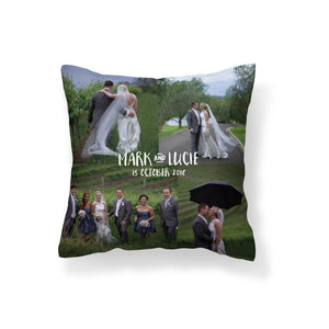 Photo Cushion Square - Wedding collage
