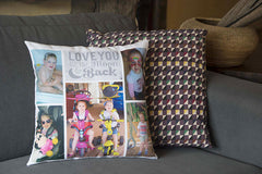PhotoMajic photo cushion family multiple photos