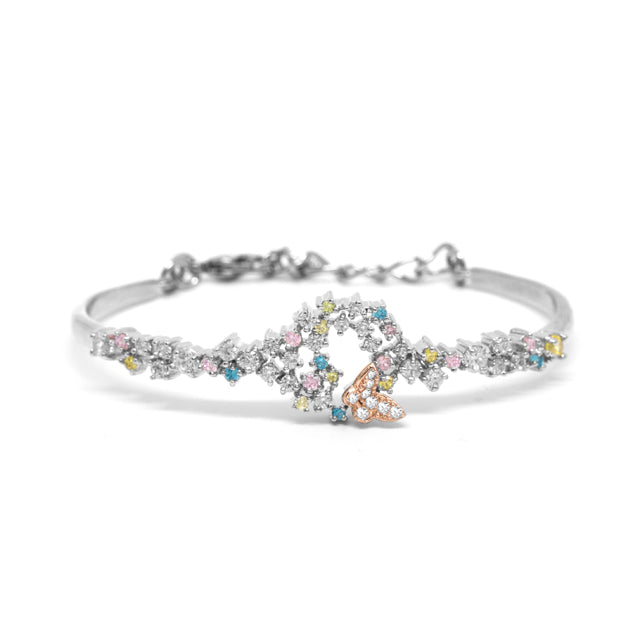 Toscow  Bangle RIP & Rose G/P Cubic Zirconia-Size 56mm