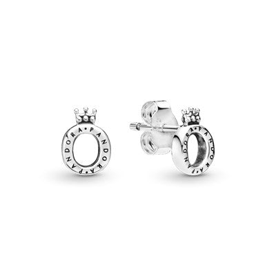Pandora Polished Crown O Stud Earrings