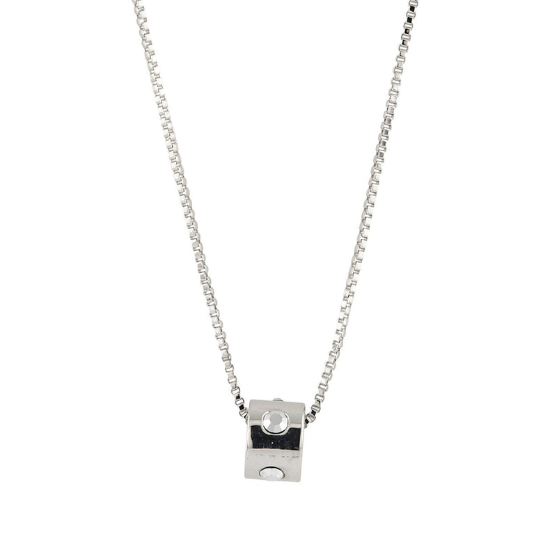 Buckley London Rocks Pendant- Rhodium