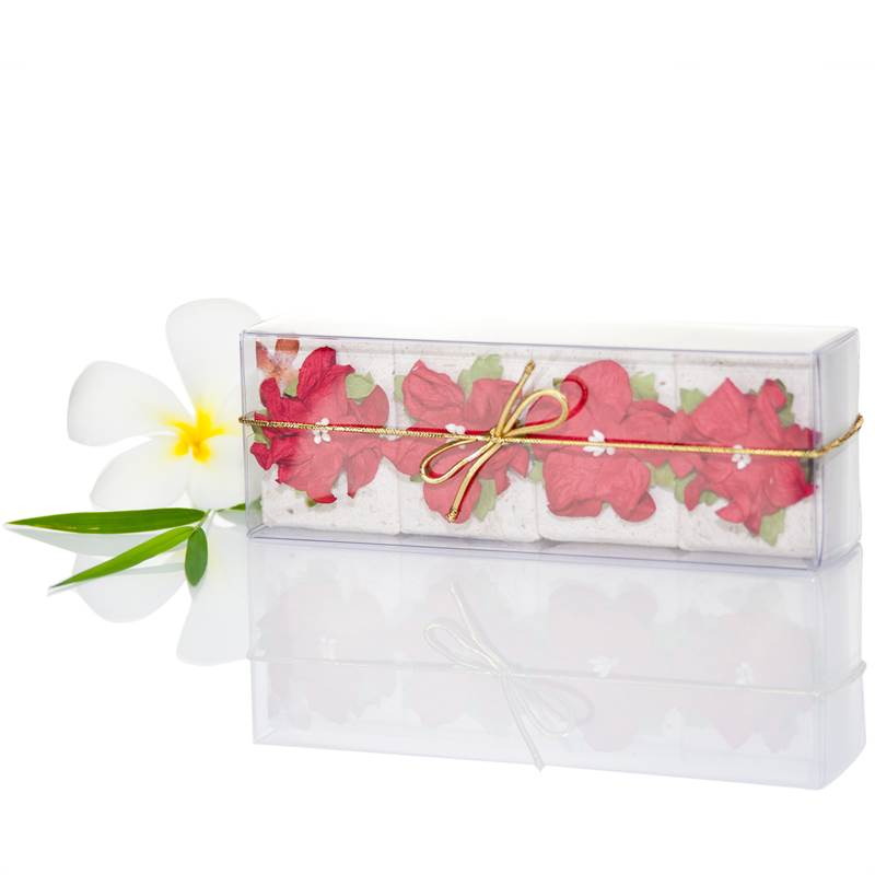 Pure Fiji 4 x 50g Floral Soap Set