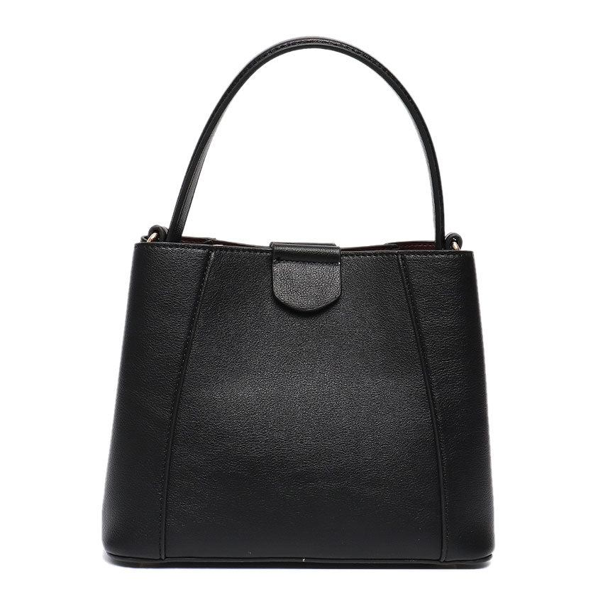 Vera May Gloria Black Vegan Leather Handbag