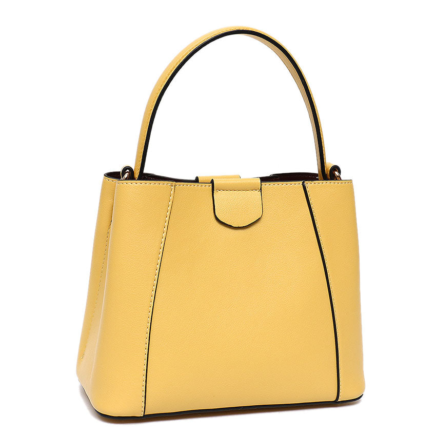 Vera May Gloria Yellow Vegan Leather Handbag