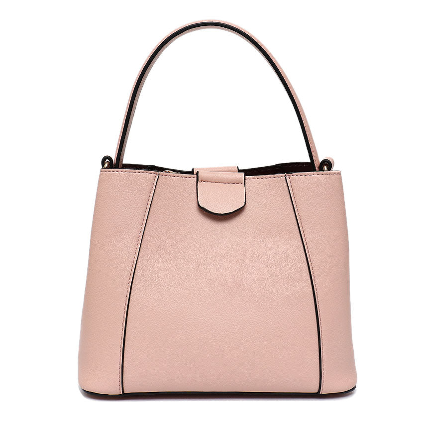 Vera May Gloria Pink Vegan Leather Handbag