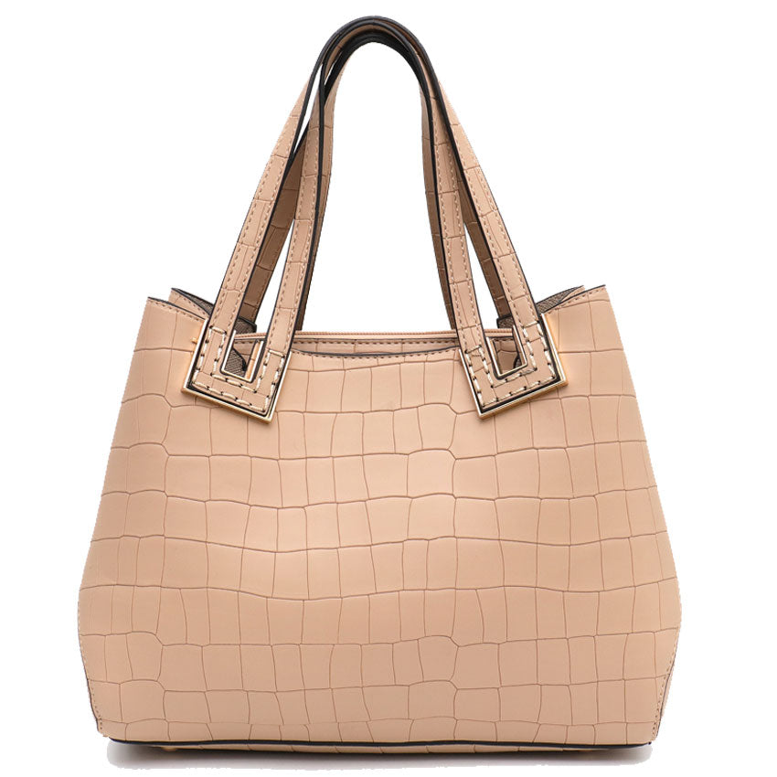 Vera May Stacey Mocha Vegan Leather Handbag