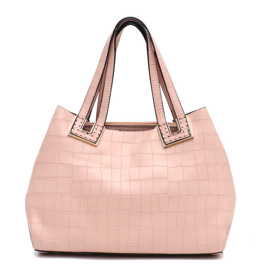 Vera May Stacey Pink Vegan Leather Handbag