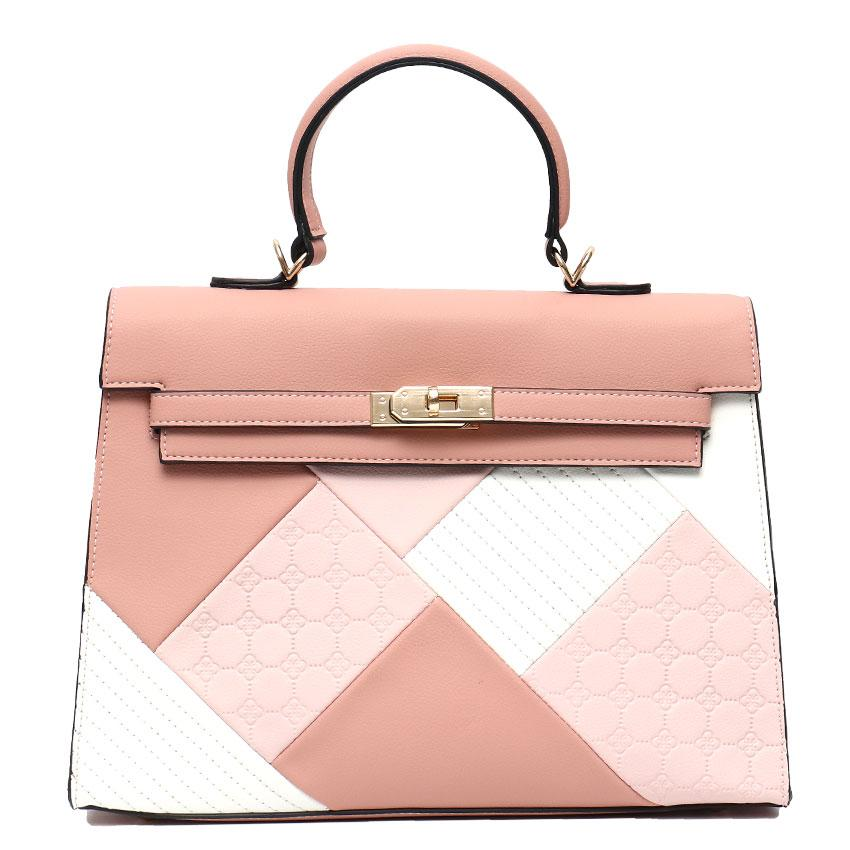Vera May Valeria Pink Vegan Leather Ladies Handbag