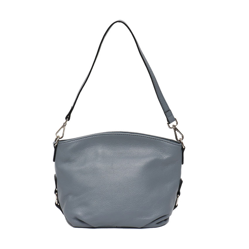 Vera May Wisteria Blue Genuine Leather Handbag