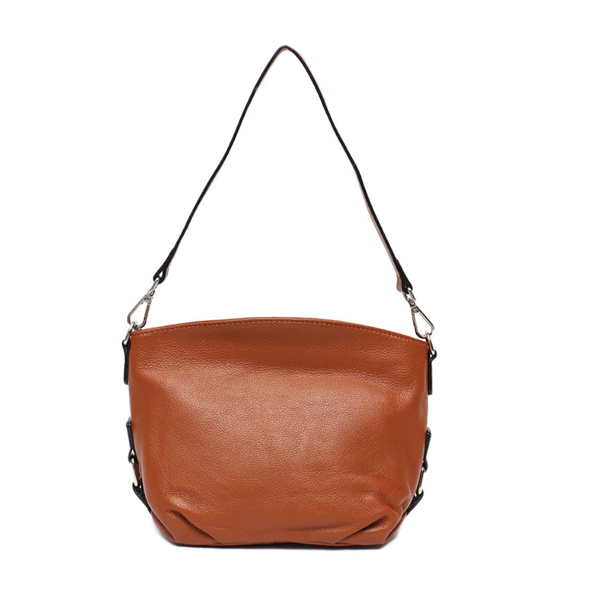 Vera May Wisteria Tan Genuine Leather Handbag