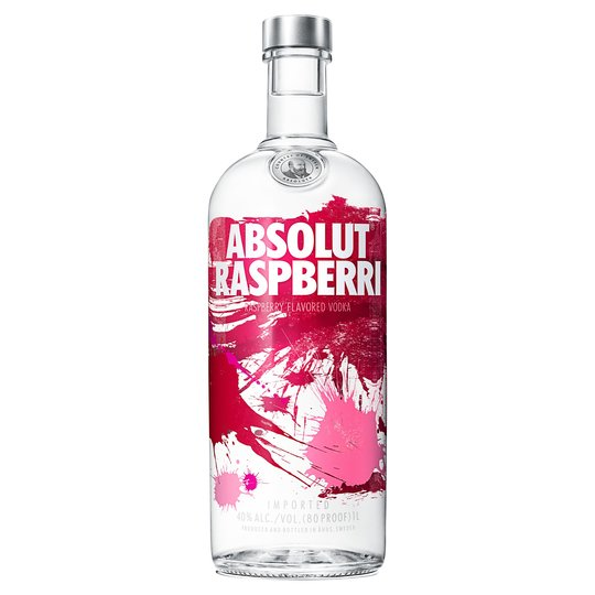 Absolut Raspberri Vodka 1Lt