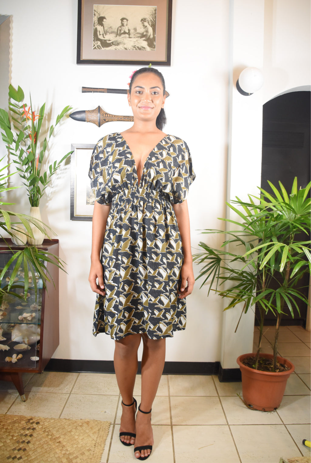 RK Karina Dress Heron Print