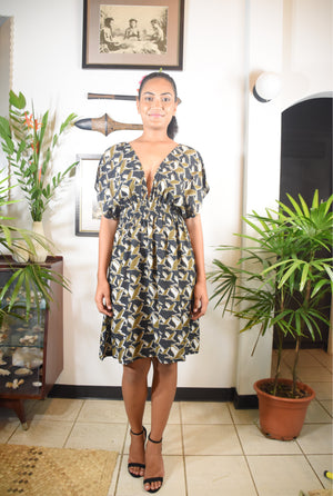Karina Dress Heron Print