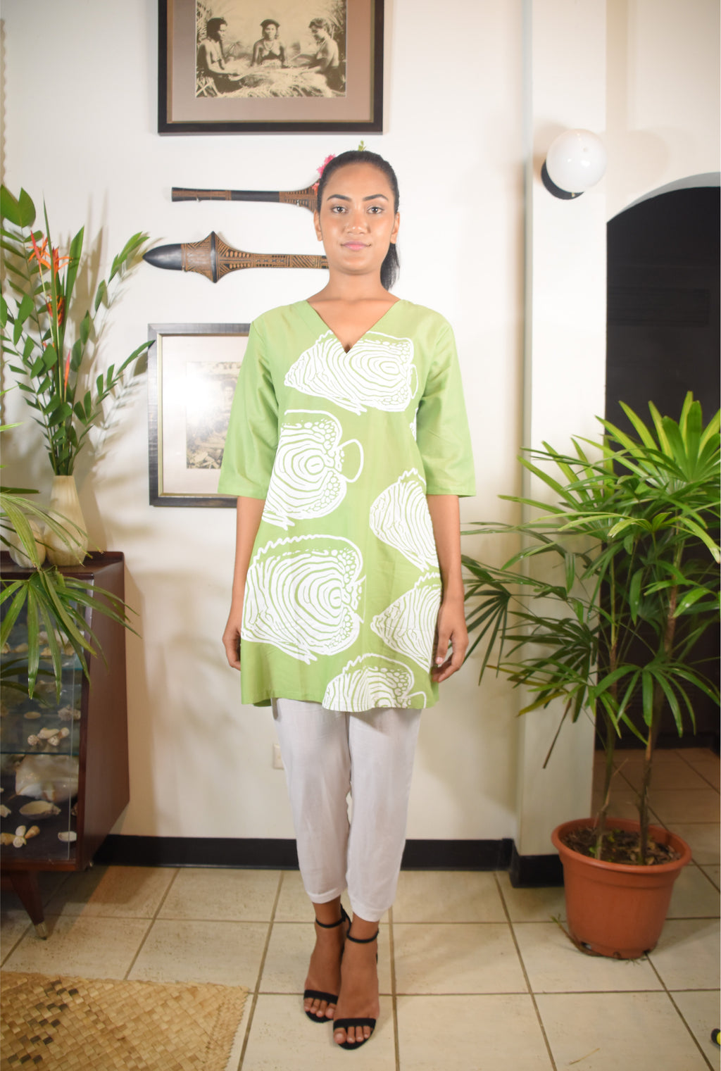 RK Ramada Dress Lime White Fish