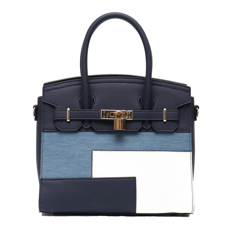 Vera May Rubi Navy Vegan Leather Ladies Handbag