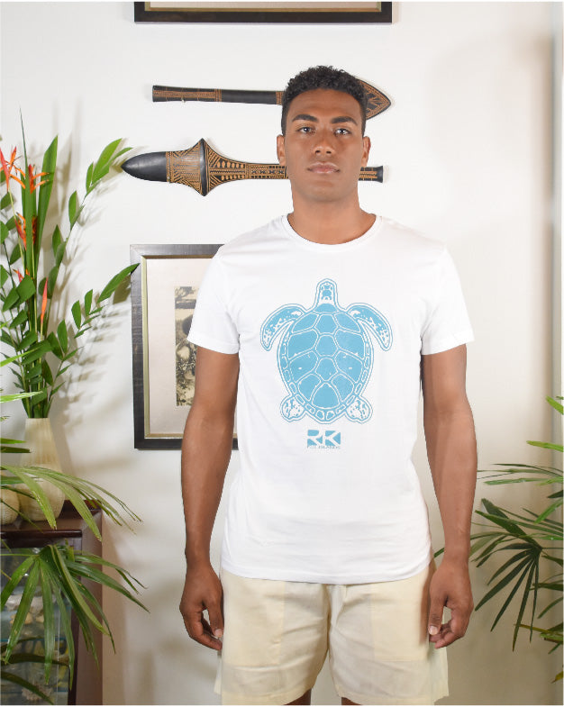 Rk Mens Tees White Turtle Design
