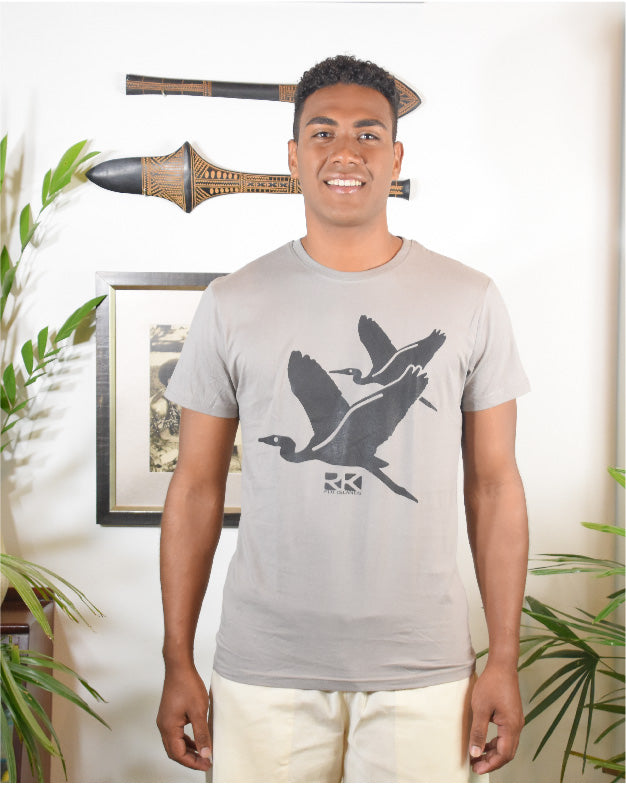 RK Mens Tees Flint Grey Brid Design