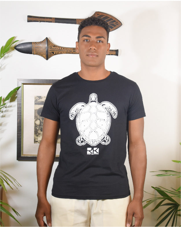 Rk Mens Tees Black Turtle Design
