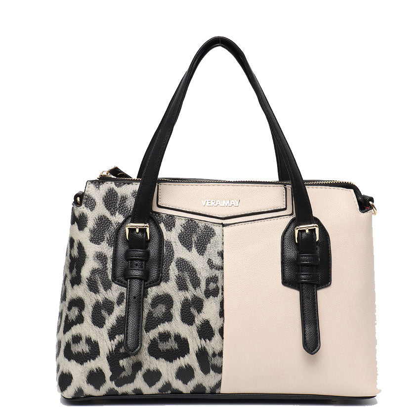 Vera May Penelope Natural Leopard Vegan Handbag
