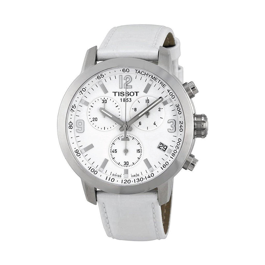 Tissot PRC 200 Chronograph White Dial Steel Watch