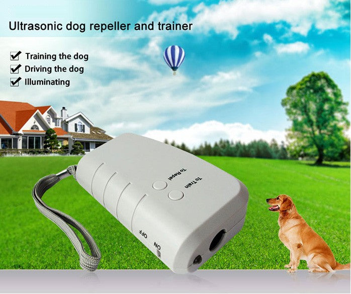 ULTRASONIC DOG REPELLER, PERSONAL ALARM AND FLASHLIGHT-3 IN 1
