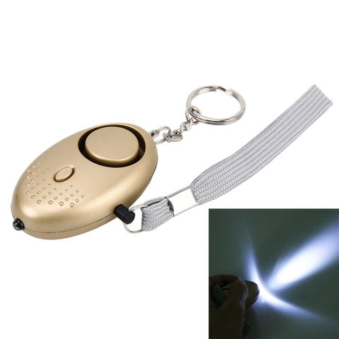 Minder Key-ring Torch Personal Alarm (Gold) - The Personal Security Company