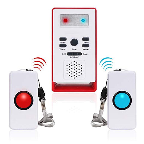 Carers  Alarm, , Panic Alarm  Alarm Home Care Alert -with Two Transmitters