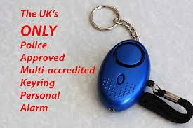 e487cb2a58d920 Minder Key-ring Torch Personal Alarm ( Metallic SILVER , BLUE or ...