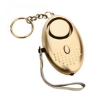 Minder Key-ring Torch Personal Alarm ( Metallic SILVER , BLUE or GOLD) - The Personal Security Company